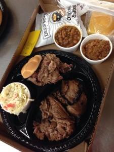Beef Brisket and a Pulled Pork Sandwich